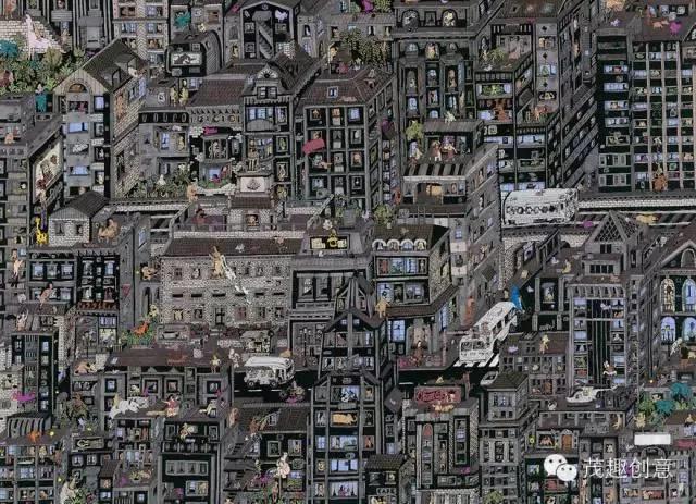 艺术家花150小时手绘城市风光    CG窝插画原画