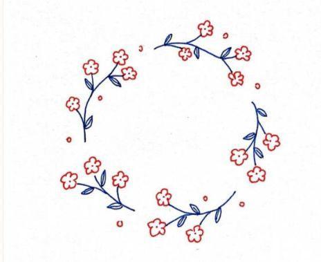 手帐素材:手绘花边框